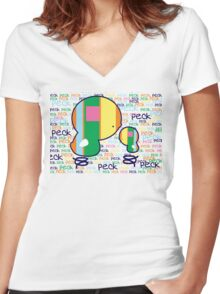 Peck Peck TShirt Women's Fitted V-Neck T-Shirt