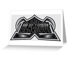 Hockey Logo Blackout Greeting Card