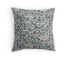 buttons and bees slate Throw Pillow