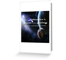 Librarian's Guide to the Galaxy - science and science fiction readers advisory Greeting Card
