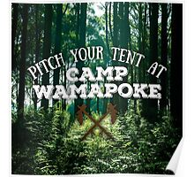 Pitch Your Tent at Camp Wamapoke Poster