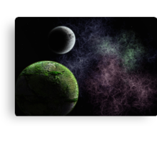 My mind is lost in space Canvas Print