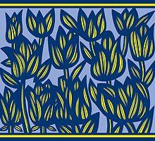 Escalade Flowers Yellow Blue by martygraw