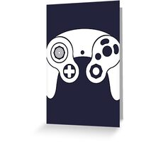 Nintendo GameCube White Greeting Card
