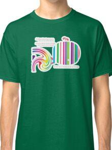 Stripey Whale TShirt Classic T-Shirt