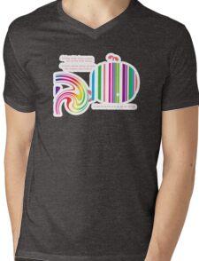 Stripey Whale TShirt Mens V-Neck T-Shirt