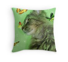 Butterly Kitty ll Throw Pillow