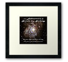 The Librarian's Guide to the Galaxy Framed Print