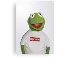 Kermit for Supreme 2 Media Cases, Pillows, and More. Canvas Print