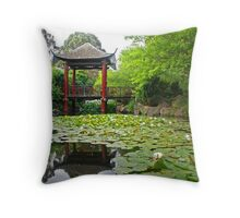 Fagan Park Chinese Garden Throw Pillow