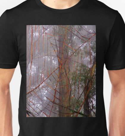 Spiderweb in the mist Unisex T-Shirt
