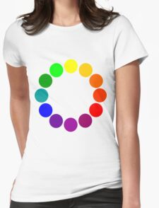 Colour Wheel 2 Womens Fitted T-Shirt