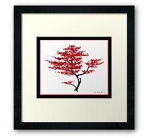 Natural Red Framed Print