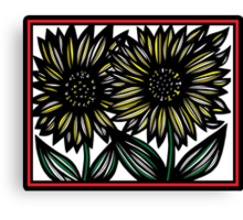 Amulet Flowers Yellow Red White Canvas Print
