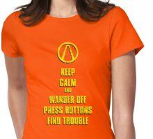 Keep Calm Pandora Womens Fitted T-Shirt