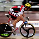 Track Cyclist by Gino Iori