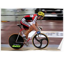 Track Cyclist Poster