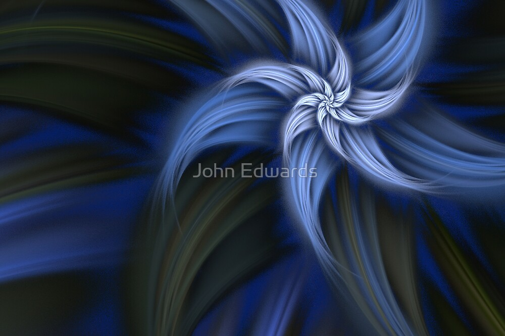 fiore blu by John Edwards