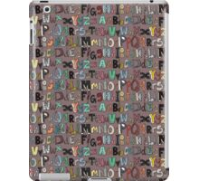 ABC mocha multi iPad Case/Skin