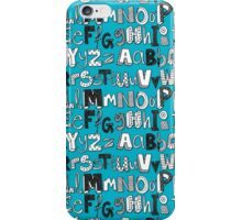 ABC blue iPhone Case/Skin