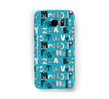 ABC blue Samsung Galaxy Case/Skin