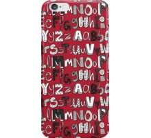 ABC red iPhone Case/Skin