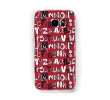 ABC red Samsung Galaxy Case/Skin