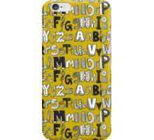 ABC yellow iPhone Case/Skin