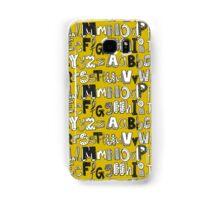 ABC yellow Samsung Galaxy Case/Skin