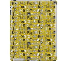 ABC yellow iPad Case/Skin