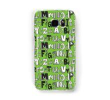 ABC green Samsung Galaxy Case/Skin