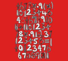 math doodle red Baby Tee