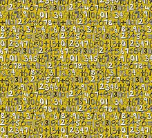 math doodle yellow by Sharon Turner