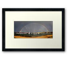 Rainbow Harbour Framed Print