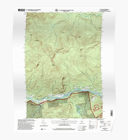 Maine USGS Historical Map Gilead 105159 1995 24000 Poster
