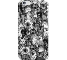 CHRISTMAS CATS black & white iPhone Case/Skin
