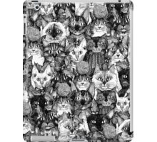 CHRISTMAS CATS black & white iPad Case/Skin