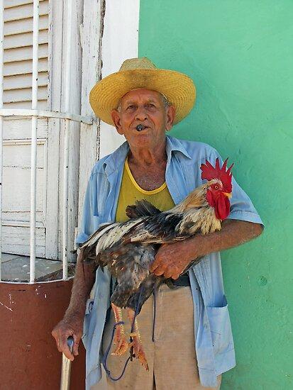 Cuban & Cockerel by Louise Mackley