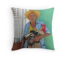 Cuban & Cockerel Throw Pillow