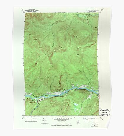 Maine USGS Historical Map Gilead 806718 1970 24000 Poster