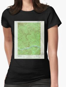 Maine USGS Historical Map Gilead 806718 1970 24000 Womens Fitted T-Shirt