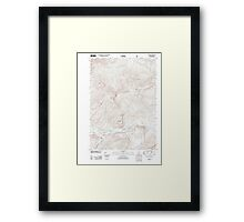 Maine USGS Historical Map Gilead 20120118 TM Framed Print