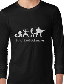 It's Evolutionary (with text) Long Sleeve T-Shirt