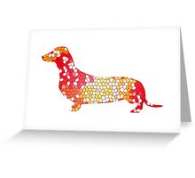 Dachshund Lovers - Abstract Red Greeting Card