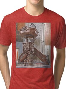 Pulpit, St Nicholas's Church, Ghent, Belgium Tri-blend T-Shirt