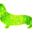 Dachshund Lovers - Abstract GreenYellow by dvampyrelestat
