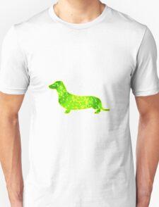 Dachshund Lovers - Abstract GreenYellow T-Shirt