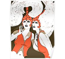 Flappers are Beautiful Women c 1920's Poster