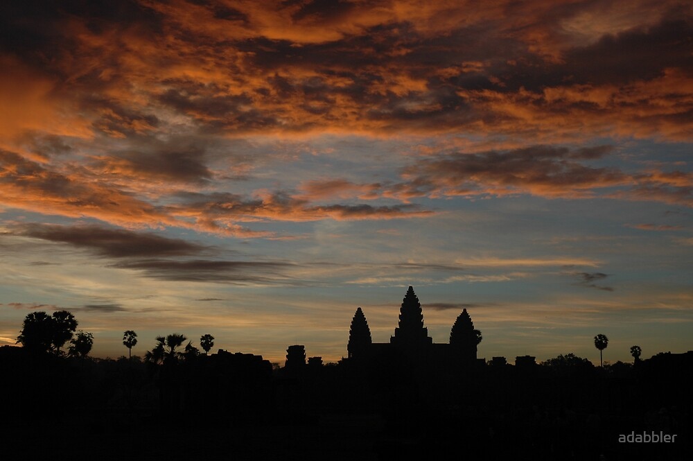 Sunrise over Angkor by Trevor Needham