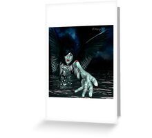 RoxyLust: the Gothic Temptress Greeting Card